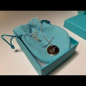 """Tiffany Notes """"J"""" on 18in. Beaded Chain"""